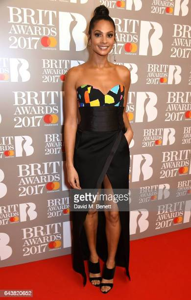 ONLY Alesha Dixon attends The BRIT Awards 2017 at The O2 Arena on February 22 2017 in London England