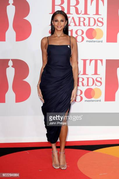 AWARDS 2018*** Alesha Dixon attends The BRIT Awards 2018 held at The O2 Arena on February 21 2018 in London England