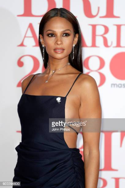 Alesha Dixon attends The BRIT Awards 2018 held at The O2 Arena on February 21, 2018 in London, England.