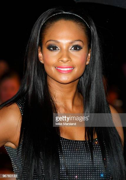 Alesha Dixon attends The Brit Awards at Earls Court on February 16 2010 in London England