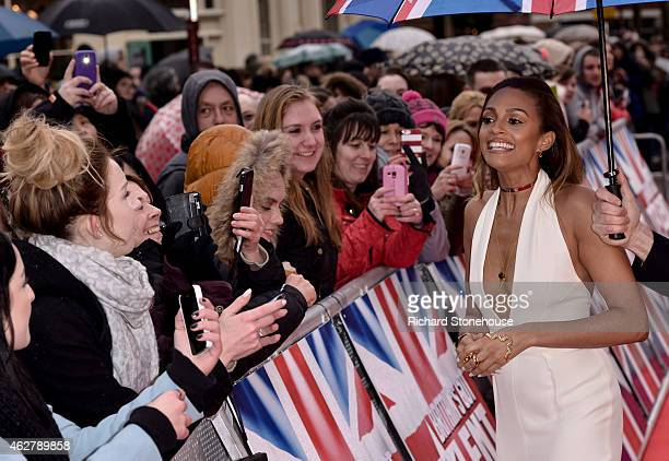 Alesha Dixon attends the Britain's Got Talent auditions at Birmingham Hippodrome on February 5 2015 in Birmingham England