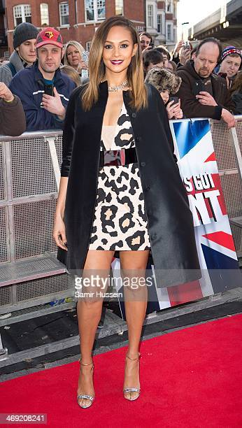 Alesha Dixon attends the Britain's Got Talent London auditions at the Hammersmith Apollo on February 13 2014 in London England