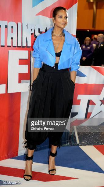 Alesha Dixon attends the Britain's Got Talent Manchester auditions at The Lowry on February 8 2018 in Manchester England