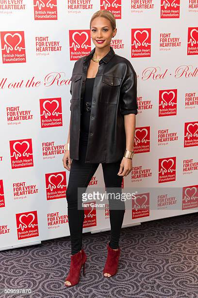 Alesha Dixon attends the British Heart Foundation Roll Out The Red Ball at The Savoy Hotel on February 11 2016 in London England