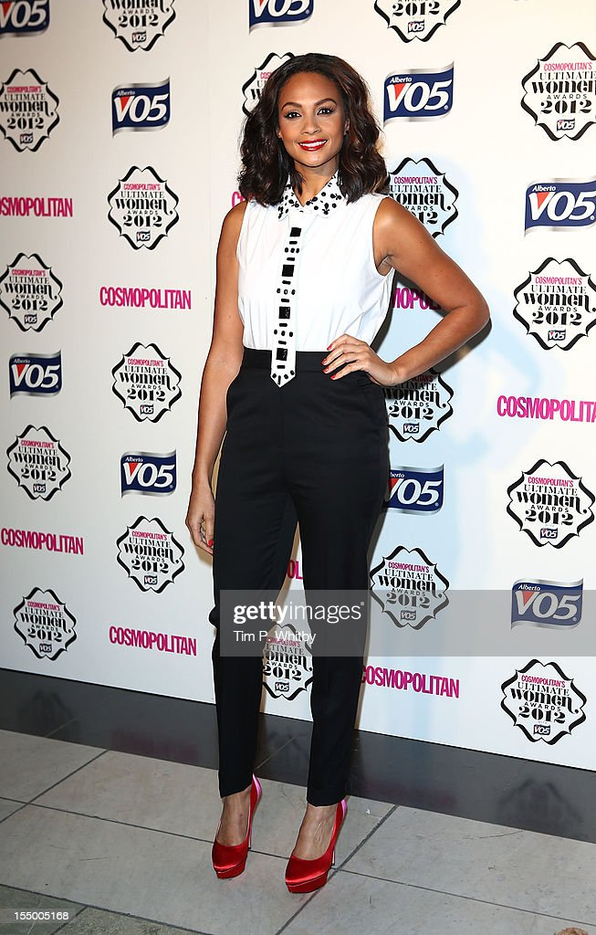Alesha Dixon attends the Cosmopolitan Ultimate Woman of the Year awards at Victoria & Albert Museum on October 30, 2012 in London, England.