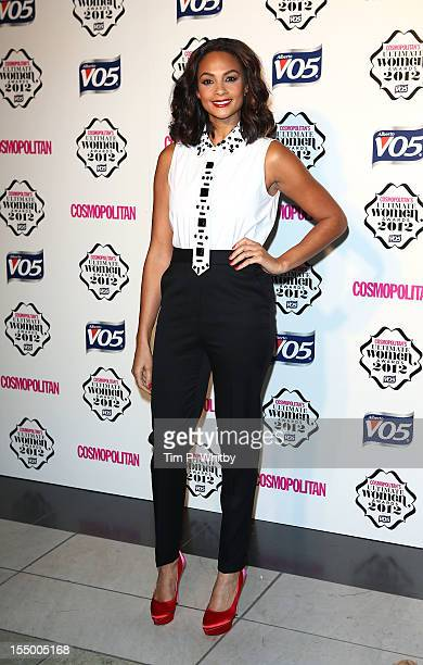 Alesha Dixon attends the Cosmopolitan Ultimate Woman of the Year awards at Victoria Albert Museum on October 30 2012 in London England