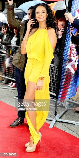 Alesha Dixon attends the first day of auditions for Britain's Got Talent at The Lowry on January 20 2012 in Manchester England