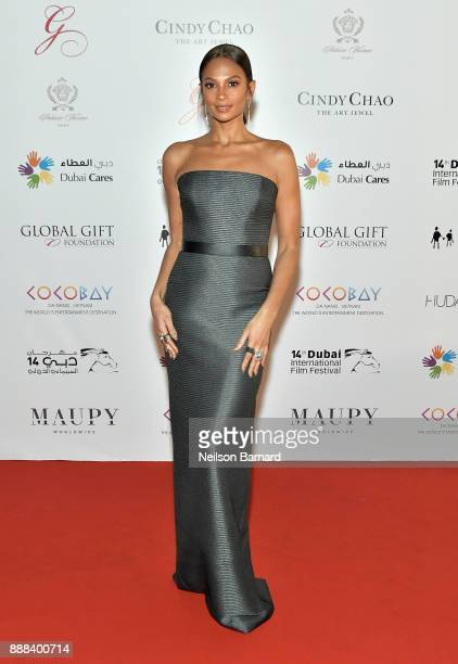 Alesha Dixon attends the Global Gift Gala on day three of the 14th annual Dubai International Film Festival held at the Versace Hotel on December 8...