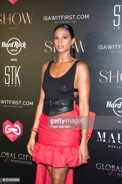 Alesha Dixon attends the Global Gift Gala party at STK Ibiza on July 21 2017 in Ibiza Spain