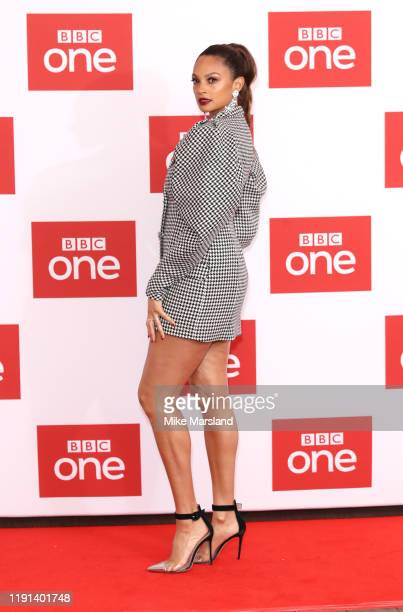 """Alesha Dixon attends """"The Greatest Dancer"""" photocall at Soho Hotel on December 02, 2019 in London, England."""