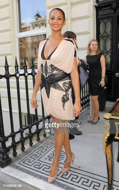 Alesha Dixon attends the Julien Macdonald show during London Fashion Week Spring/Summer 2012 on September 17 2011 in London England
