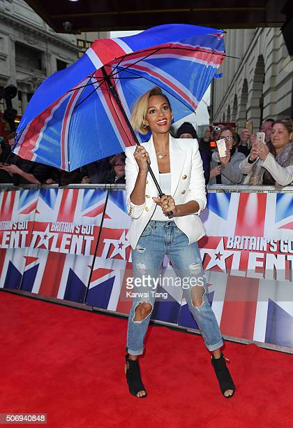 Alesha Dixon attends the London auditions of Britain's Got Talent at Dominion Theatre on January 26 2016 in London England