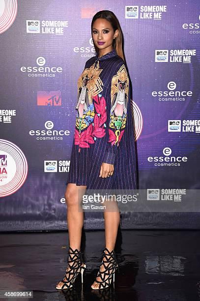 Alesha Dixon attends the MTV EMA's 2014 at The Hydro on November 9 2014 in Glasgow Scotland