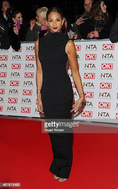 Alesha Dixon attends the National Television Awards at 02 Arena on January 21 2015 in London England