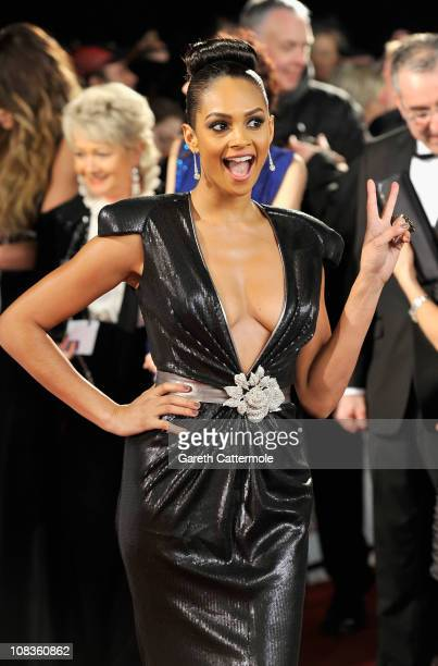 Alesha Dixon attends the National Television Awards at the O2 Arena on January 26 2011 in London England