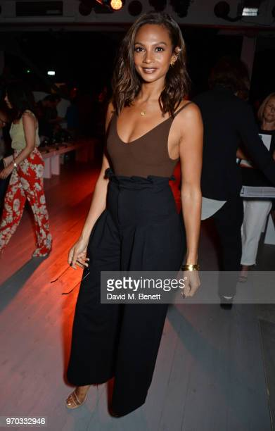 Alesha Dixon attends the Oliver Spencer Catwalk Show SS 2019 during London Fashion Week Men's June 2018 at 180 The Strand on June 9 2018 in London...