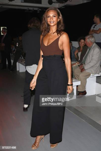 Alesha Dixon attends the Oliver Spencer show during London Fashion Week Men's June 2018 at BFC Show Space on June 9 2018 in London England
