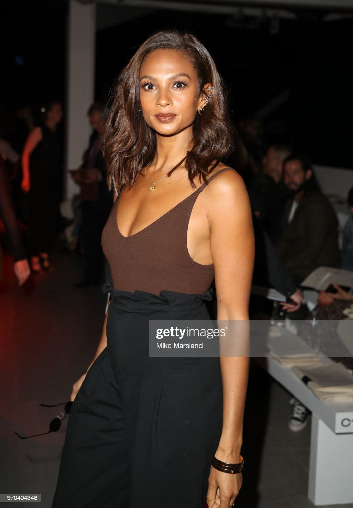 Alesha Dixon attends the Oliver Spencer Show during London Fashion Week Men's June 2018 on June 9, 2018 in London, England.