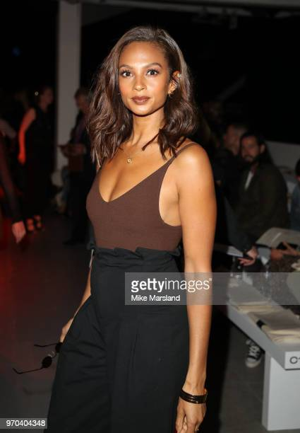 Alesha Dixon attends the Oliver Spencer Show during London Fashion Week Men's June 2018 on June 9 2018 in London England