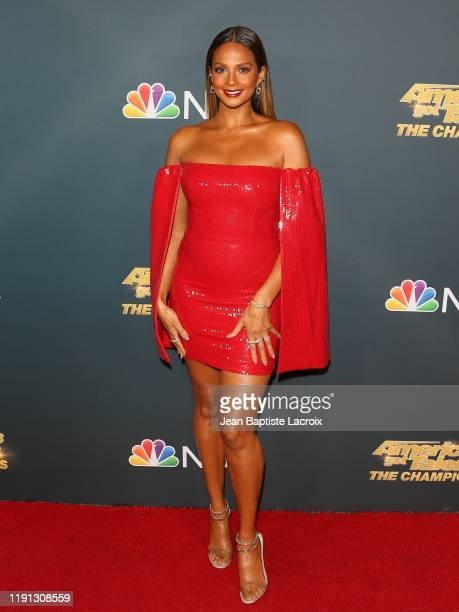 "Alesha Dixon attends the premiere of NBC's ""America's Got Talent: The Champions"" Season 2 at Sheraton Pasadena Hotel on October 10, 2019 in Pasadena,..."