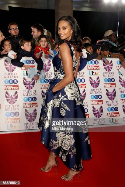 Alesha Dixon attends the Pride Of Britain Awards at Grosvenor House, on October 30, 2017 in London, England.