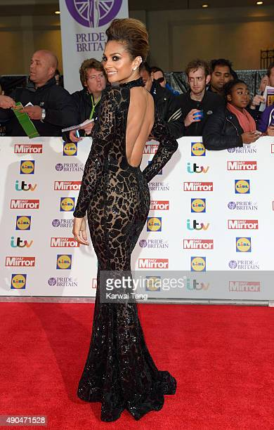 Alesha Dixon attends the Pride of Britain awards at The Grosvenor House Hotel on September 28 2015 in London England