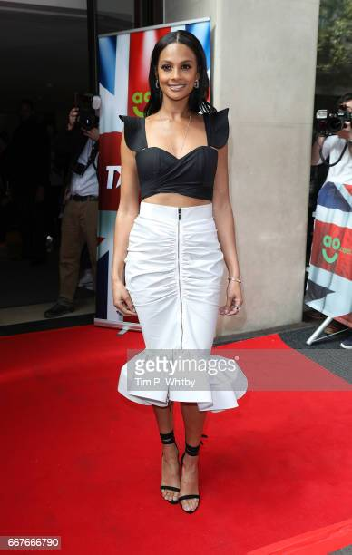 Alesha Dixon attends the red carpet for the new series of Britain's Got Talent at The Mayfair Hotel on April 12 2017 in London United Kingdom