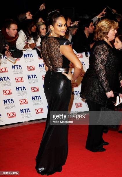 Alesha Dixon attends the The National Television Awards at the O2 Arena on January 26 2011 in London England