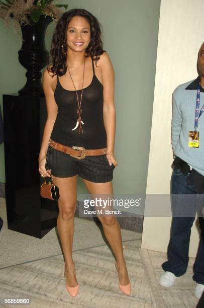Alesha Dixon attends the Universal Records after show party following The Brit Awards 2006 with MasterCard at Nobu Berkeley on February 15 2006 in...