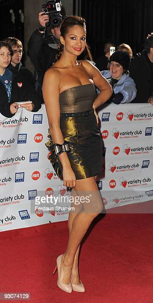 Alesha Dixon attends the Variety Club Showbiz Awards at Grosvenor House on November 15 2009 in London England