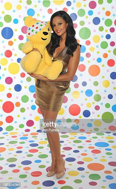 Alesha Dixon backstage during BBC Children in Need on November 18 2011 in London England