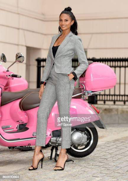 Alesha Dixon celebrates becoming the Debenhams Beauty Club ambassador at The Lanesborough Hotel on October 24 2017 in London England