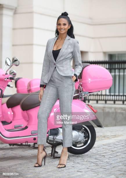 Alesha Dixon celebrates becoming the Debenhams Beauty Club ambassador at The Lanesborough Hotel on October 24 2017 in London England