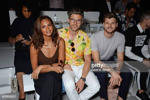 Alesha Dixon Darren Kennedy and Jim Chapman attend the Oliver Spencer Catwalk Show SS 2019 during London Fashion Week Men's June 2018 at 180 The...