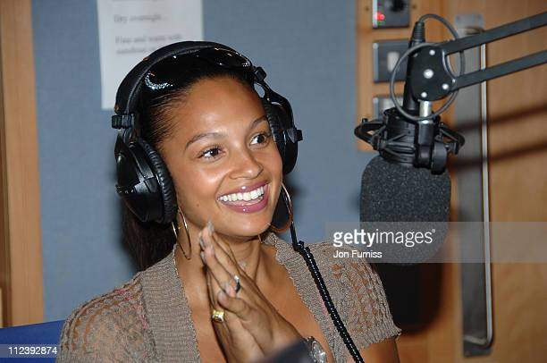 Alesha Dixon during Capital's Help a London Child Weekend July 2123 2006 at Capital Radio in London Great Britain