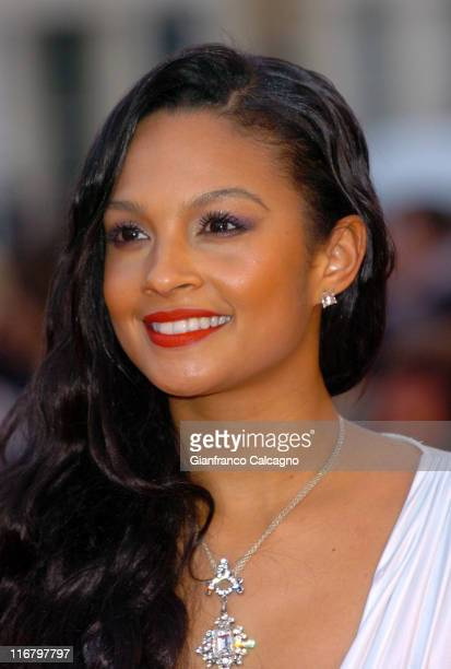 Alesha Dixon during The Mastercard Brit Awards 2007 Outside Arrivals at Earls Court in London Great Britain