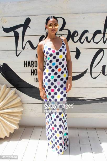 Alesha Dixon is seen at Hard Rock Hotel Ibiza at the presentation of the Global Gift Beach Party on July 21 2017 in Ibiza Spain
