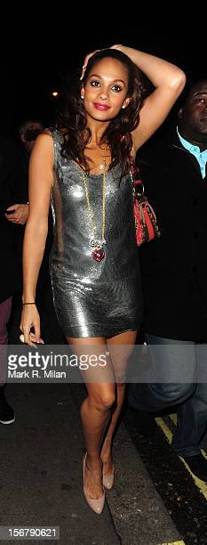 Alesha Dixon is seen on November 25 2009 in London England
