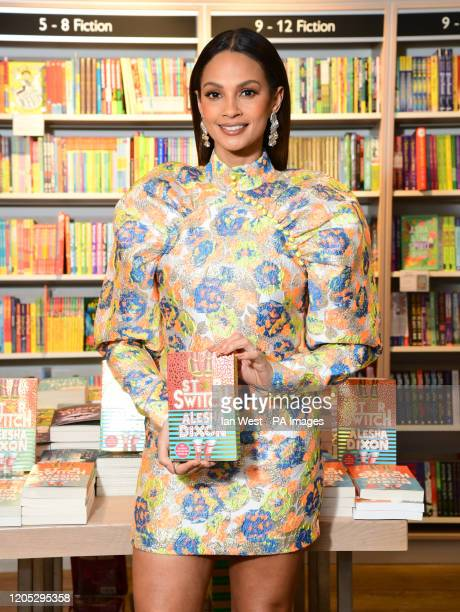 Alesha Dixon is seen with her new book Star Switch on World Book Day at Foyles Bookshop in London