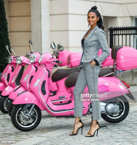 Alesha Dixon is the new beauty ambassador for Debenhams Beauty Club at The Lanesborough Hotel on October 24 2017 in London England