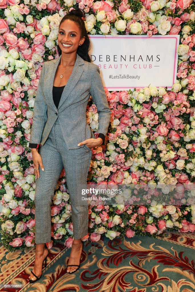 Alesha Dixon is the new beauty ambassador for Debenhams Beauty Club at The Lanesborough Hotel on October 24, 2017 in London, England.