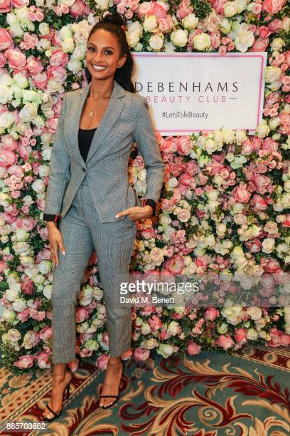Alesha Dixon is the new beauty ambassador for Debenhams Beauty Club at The Lanesborough Hotel on October 24 2017 in London England