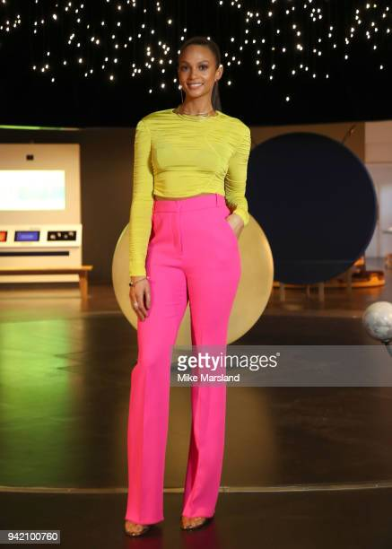 "Alesha Dixon launches her first book ""Lightning Girl"" at Science Museum on April 5, 2018 in London, England."