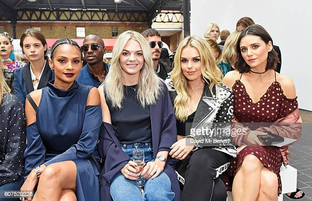Alesha Dixon Louisa Johnson Tallia Storm and Lilah Parsons attend the Topshop Unique show during London Fashion Week Spring/Summer Collections 2017...