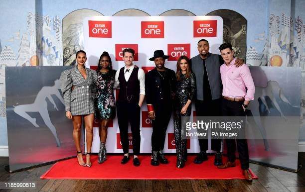Alesha Dixon Oti Mabuse Matthew Morrison Todrick Hall Cheryl Jordan Banjo and Curtis Pritchard attending The Greatest Dancer Photocall held at the...
