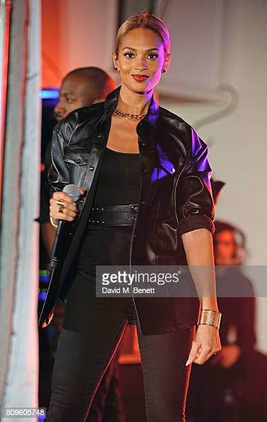 Alesha Dixon performs at the British Heart Foundation Roll Out The Red Ball at The Savoy Hotel on February 11 2016 in London England