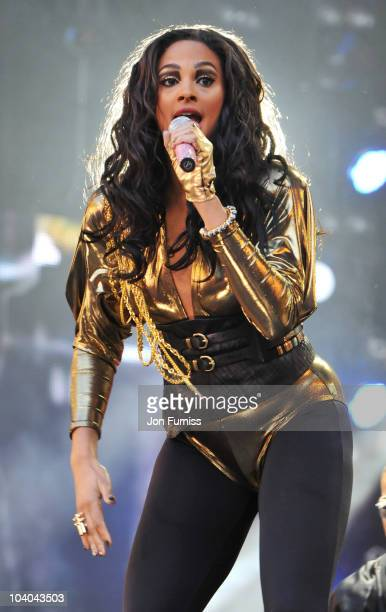 Alesha Dixon performs on stage as part of the Heroes Concert at Twickenham Stadium on September 12, 2010 in London, England.