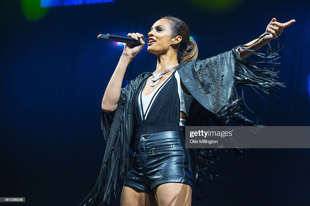 Alesha Dixon performs onstage during Key 103 Summer Live 2015 at Manchester Arena on July 19, 2015 in Manchester, England.