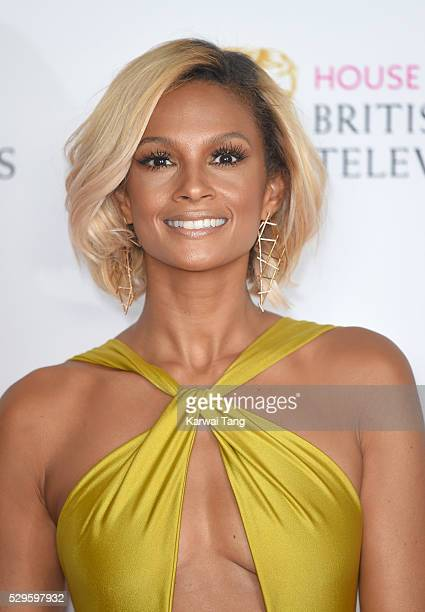 Alesha Dixon poses in the winners room at the House Of Fraser British Academy Television Awards 2016 at the Royal Festival Hall on May 8 2016 in...