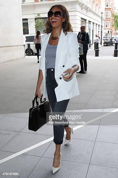Alesha Dixon seen at BBC Radio Studios on June 23 2015 in London England